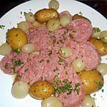 recette Saucisson à cuire aux petits oignons