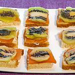 recette Toast kiwi truite fumée