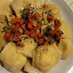 Ravioles de poisson à la crème de truffe