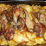 recette Manchon de canard aux pommes boulangères