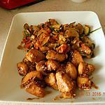 recette Poulet caramélisé sauce soja et sésame