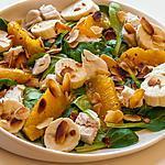 recette Salade de poulet aux oranges et aux bananes