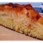 recette Gâteau renversé aux pommes  caramélisé