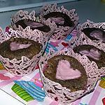 recette Cupcakes truffé au chocolat et coeur d'amour pour la fête des grands mères