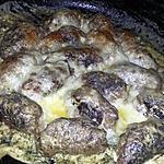 recette Minis saucisses de viande haché gratinés