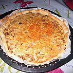 recette tarte thon champignons  poireaux