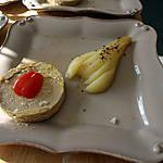 recette Médaillon de Foie Gras aux Poires Pochées