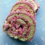 recette Bûche aux pralines roses & à la rose