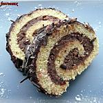 recette Bûche au chocolat & aux noisettes