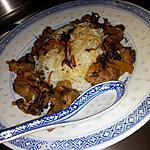 recette Wok de légumes et porc à la chinoise