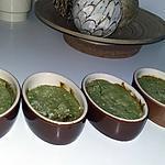 recette Flans au haricot vert, mascarpone et parmesan