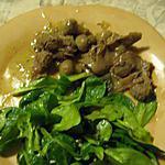 recette Mijotée de gésiers au cumin
