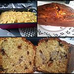 recette Cake à la banane et aux pépites de chocolat/noisettes