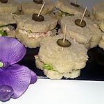 recette Minis sandwichs apéritifs au surimi