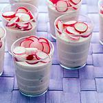 recette verrines de jambon au radis