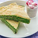 recette Gâteau de crêpes aux épinards et à la ricotta
