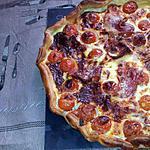recette Quiche au tomate cerise serrano et chévre frais