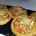 recette Minis tartes feuilletées poulet tomates chèvre