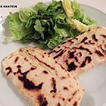 recette Naan jambon / mozzarella