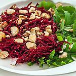 recette Salade de betterave crue aux noisettes