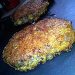 recette Steak haché panés aux 3 fromages