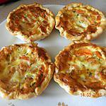 recette Tartelettes carottes mozza