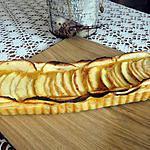 recette tarte aux deux pommes et a la confiture de figue maison