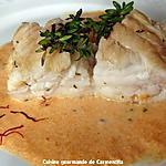 recette Queue de lotte rôtie et sa sauce corail crémée au Vermouth