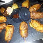 recette Brochettes de beignets apéritif au knackis