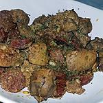 recette Foies de volaille au chorizo