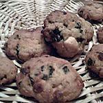 recette COOKIES CHOCOLAT BLANC ET PRUNEAUX