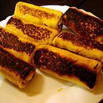 recette Mini roulé à la banane et au Nutella