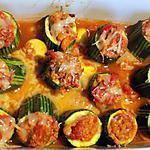 recette Courgettes farcies au thon (compatible dukan)