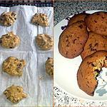 recette Cookies croustillant aux pépites de chocolat
