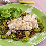 recette Cabillaud aux fèves et tomates confites