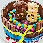 recette Gâteau de Pâques Kitkat