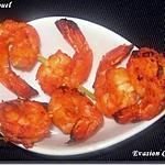 recette Crevettes apéritives en mini-brochettes