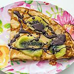 recette Crêpes  kiwi sauce chocolat