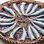 recette Tarte au blé noir oignons et sardines