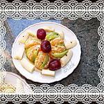recette salade de fruits au caramel