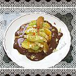 recette clémentine et kiwi sur lit au chocolat