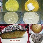 recette Gâteau crème Amandine.nappage chocolat.