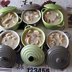 recette Cassolettes aux crevettes, girolles et Saint-Jacques