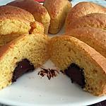 recette Parts individuelles moelleux a l'orange cœur a la truffe