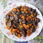 recette COEURS DE LOBES DE CANARD AUX CAROTTES EN PERSILLADE