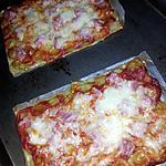 recette Pizza individuels de ravioles au jambon et 3 fromages