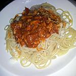 recette Spaghettis à la bolognaise de sardines