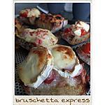 recette BRUSCHETTA EXPRESS