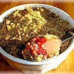recette Crumble de poires et framboises à la fève tonka et spéculoos