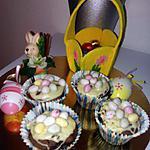 recette Cupcakes fondant au chocolat nid de paques